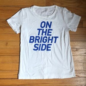 """J. Crew """"On the Bright Side"""" Graphic Tee"""